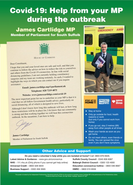 James Cartlidge MP Covid 19